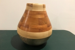 Segmented and Brass Bowl Vase (11 inches)