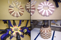 Segmented Vase in process